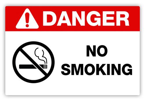 Danger - No Smoking Label