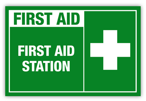 First Aid Station Label