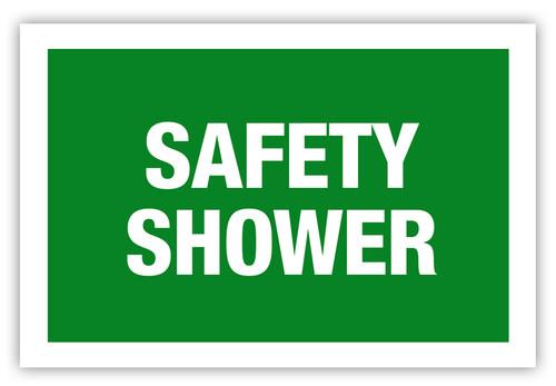Safety Shower Label