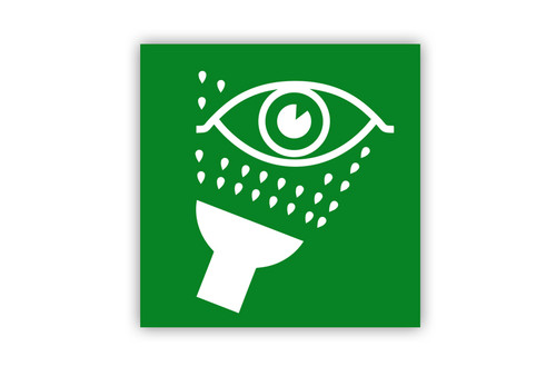 Eye Wash Symbol Label Creative Safety Supply