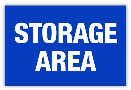Storage Area Label
