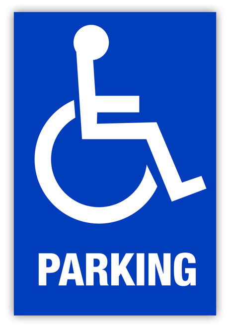Handicap parking label creative safety supply for Handicap parking sign template