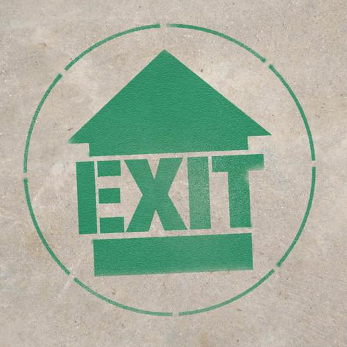 Exit - Stencil