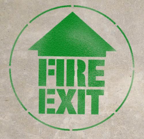 Fire Exit - Stencil