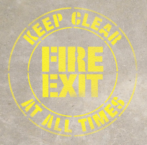 Fire Exit- Keep Clear at all Times Stencil