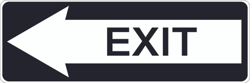 Exit - Aluminum Sign with arrow pointing left