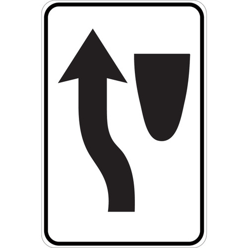 Keep Left (graphic only) - Aluminum Sign