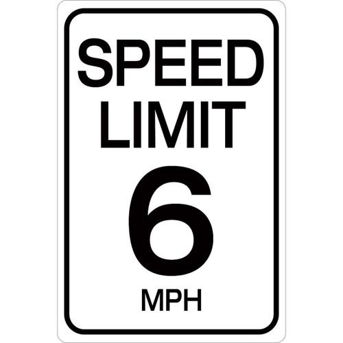Speed Limit 6 mph - Aluminum Sign