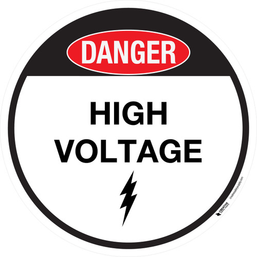 Floor Sign - Danger - High Voltage