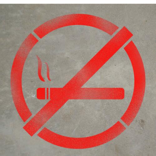 No Smoking Symbol Stencil Creative Safety Supply