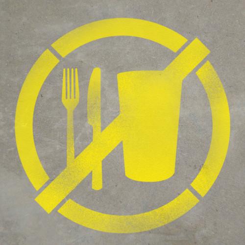 No Food or Drinks - Stencil
