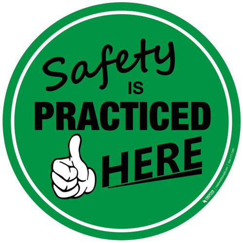 Safety resources creative safety supply floor sign safety is practiced here fandeluxe Images