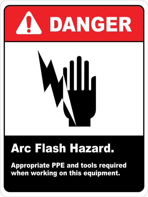 Danger Arc Flash Hazard PPE required