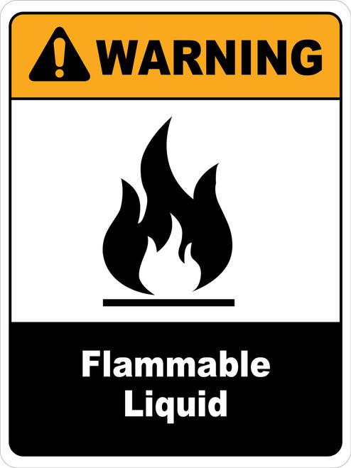 Warning Flammable Liquids Wall Sign
