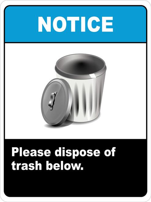 Notice Dispose of Trash