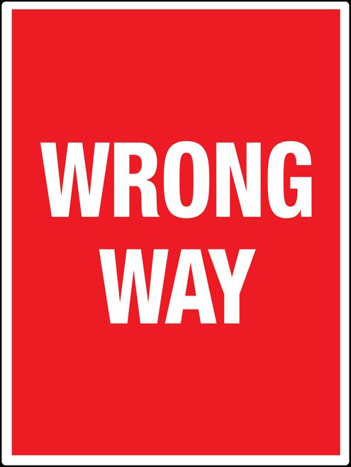 red wrong way wall sign creative safety supply