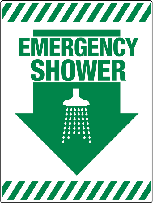 Emergency Shower Wall Sign