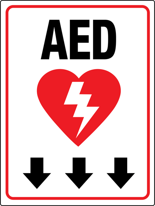 Aed Below Signs Wall Sign Creative Safety Supply