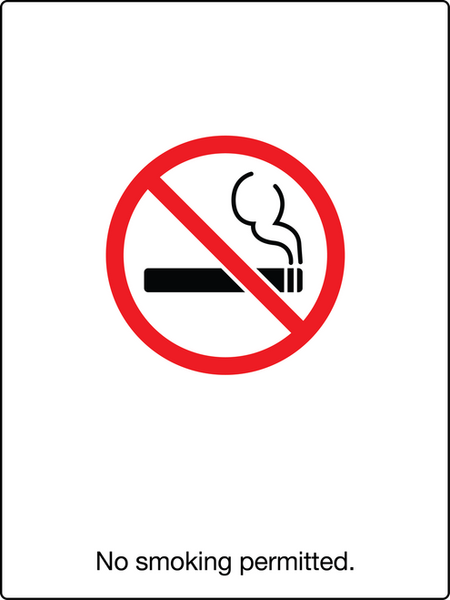 No Smoking Permitted Wall Sign