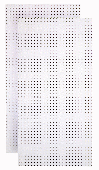White Tempered Pegboards - (2)24x48x1/4