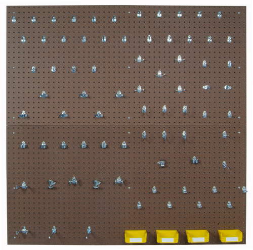 Tempered Wood Pegboards - 2 - 24x48x1/4 79 Hooks - 4Bins