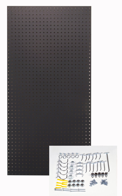 Black Tempered Board - 24x48x1/4 - 36 Hooks