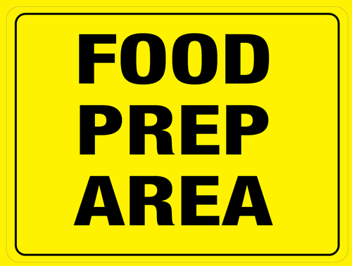 Food Prep Area Floor Sign (Rectangle)