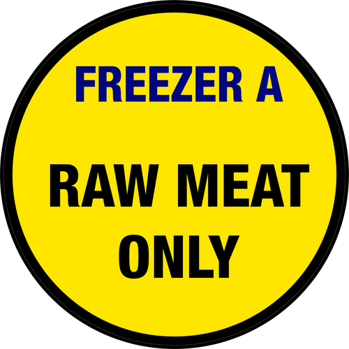 Freezer A - Raw Meat Only Floor Sign