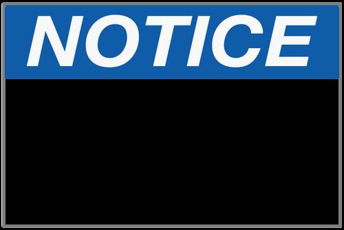 Notice - Food Preparation Area Wall Sign