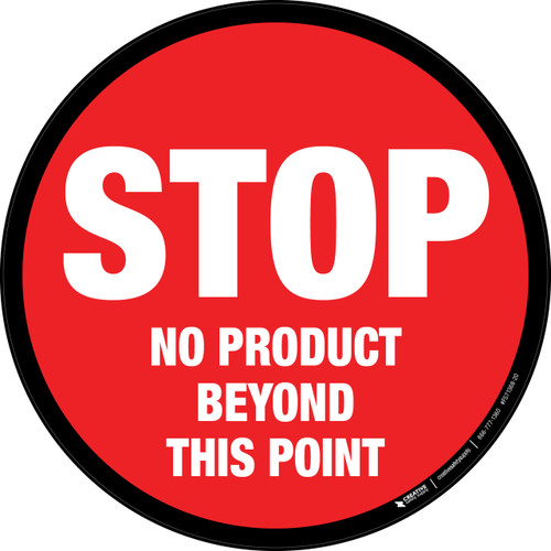 STOP No Product Beyond This Point