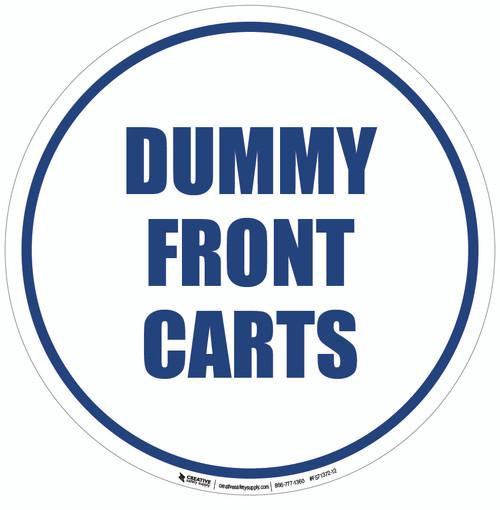 Dummy Front Cart Floor Sign