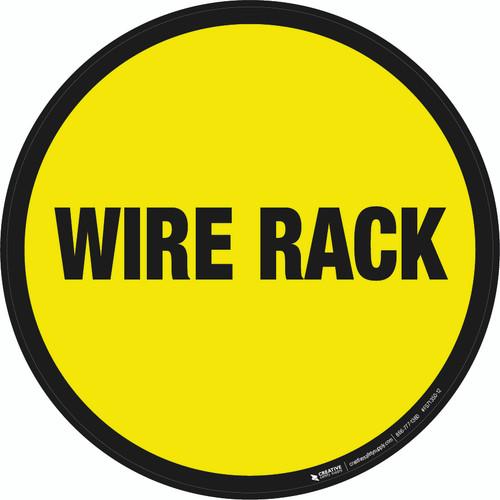 Wire Rack Floor Sign