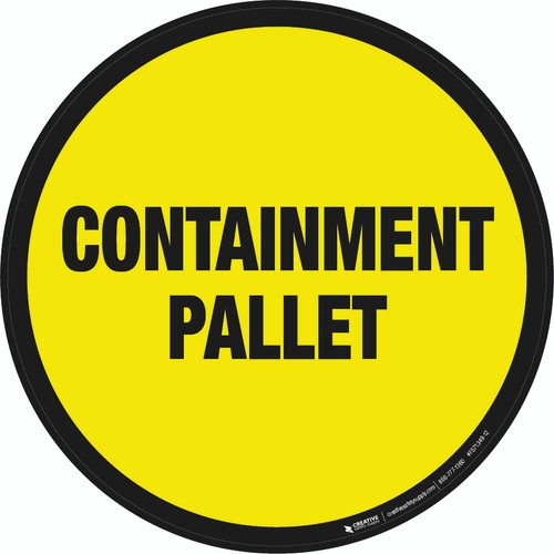 Containment Pallet Floor Sign