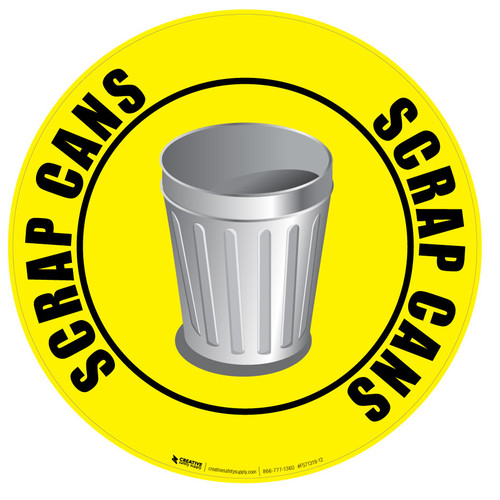 Scrap Cans Floor Sign
