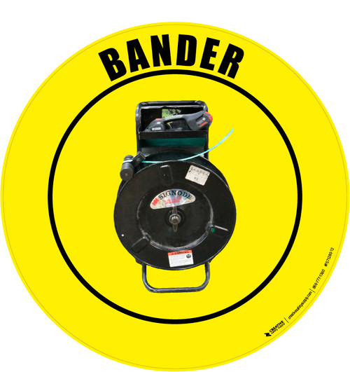 Bander (Real) Floor Sign