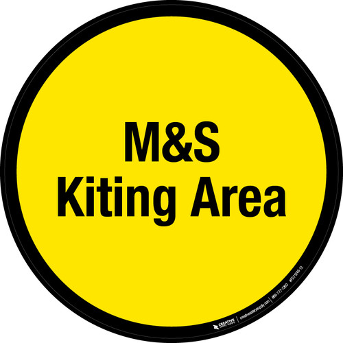 M&S Kiting Area Floor Sign
