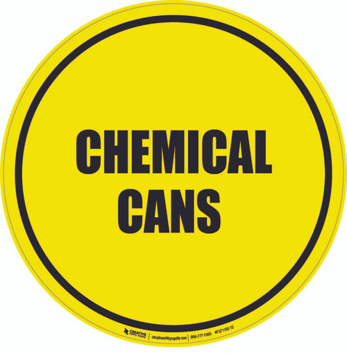 Chemical Cans Floor Sign