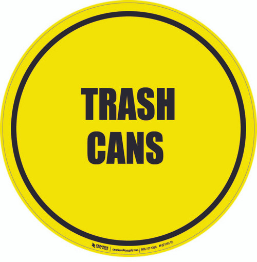 Trash Cans Floor Sign