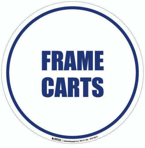 Frame Carts Floor Sign