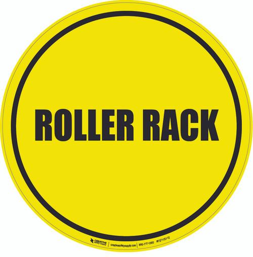 Roller Rack Floor Sign