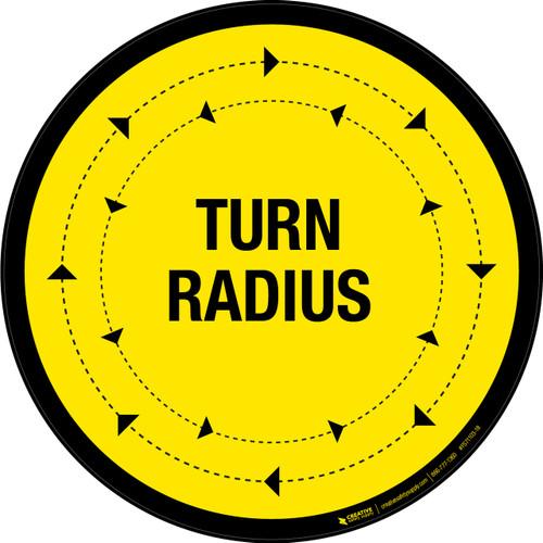 Turn Radius Floor Sign