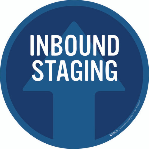 Inbound Staging Floor Sign