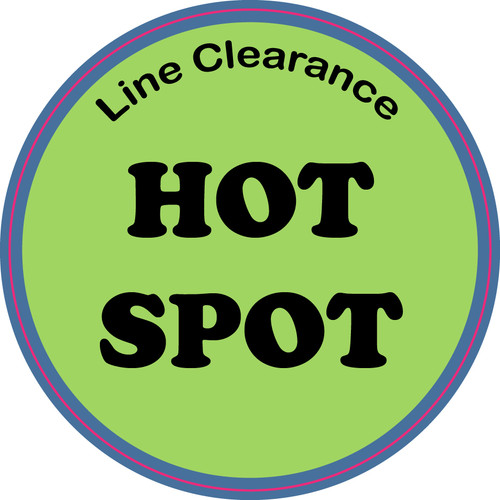 Line Clearance Hot Spot Floor Sign