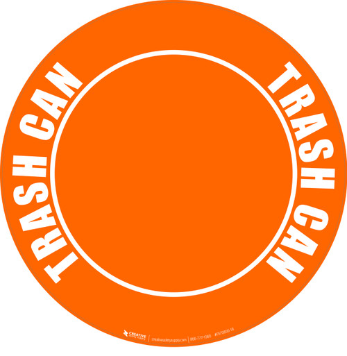 Trash Can (Orange) Floor Sign