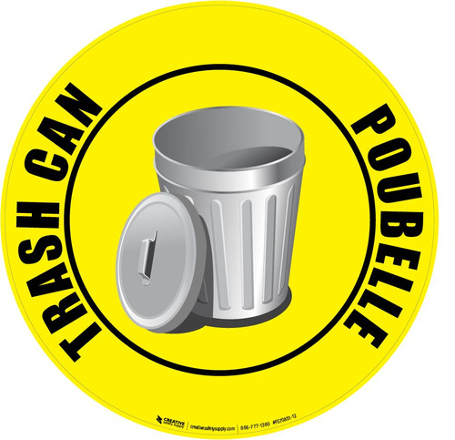 Trash Can (Poubelle) Floor Sign