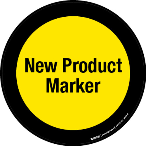 New Product Marker Floor Sign