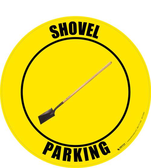 Shovel Parking (Real) Floor Sign
