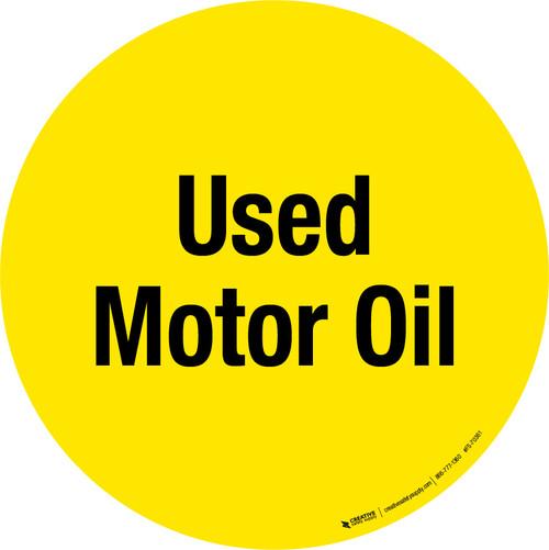 Used Motor Oil Floor Sign