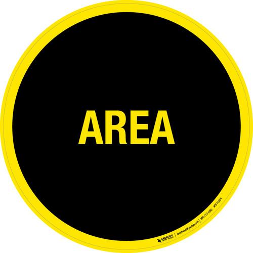 Area Floor Sign