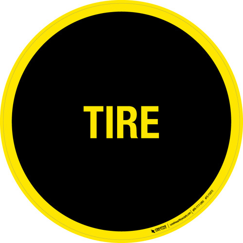 Tire Floor Sign